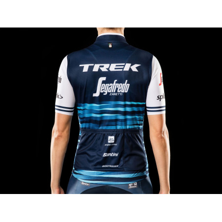 Jersey Santini Trek-Segafredo Replica Women  Blue/White