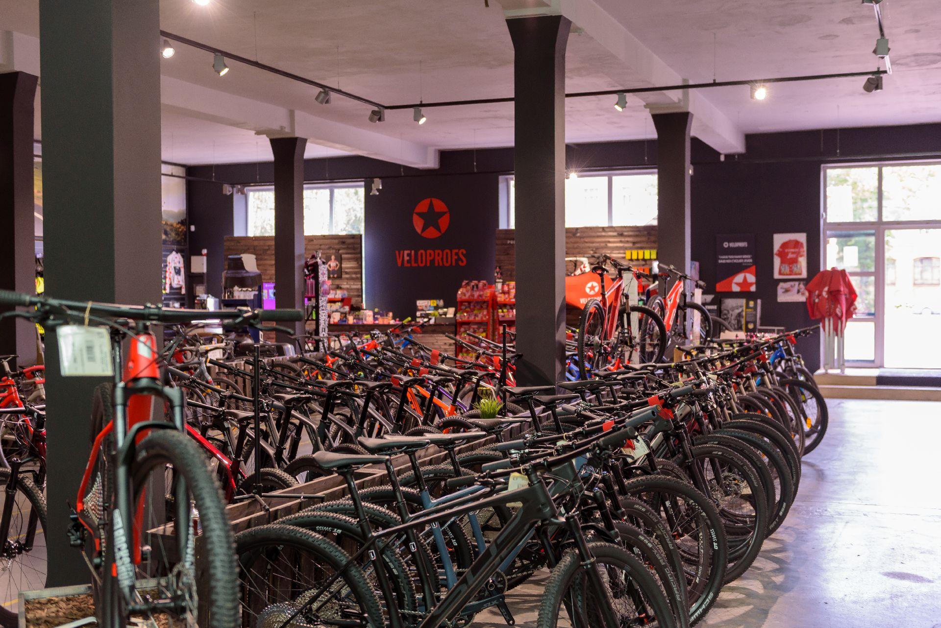 Liela velosipēdu izvēle, Veloprofs.lv, Veloprfs veikals Juglā